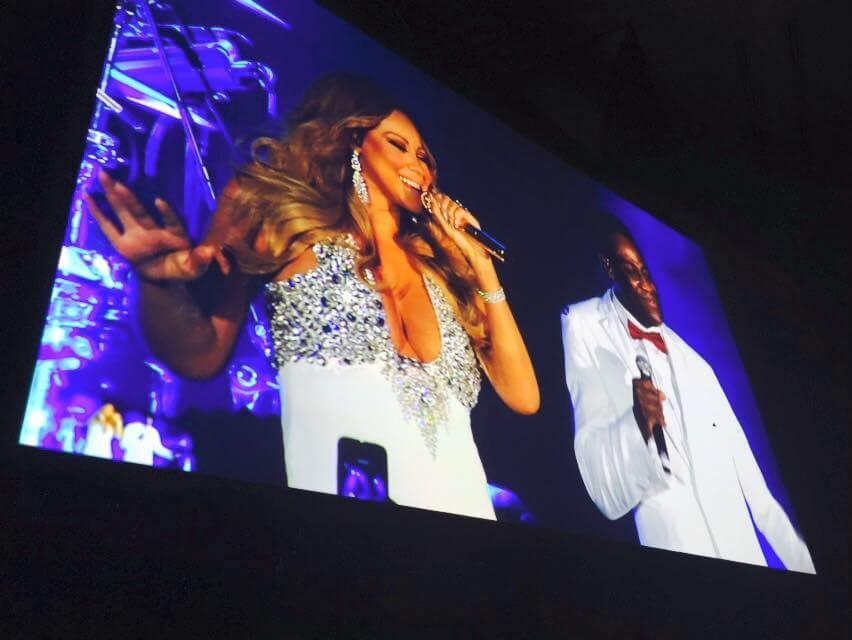 Chunky Jam Support Mariah Carey NYE 2015